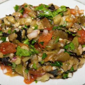 Приправа к шашлыку армянская из овощей на мангале (помидоры, перец, баклажан)
